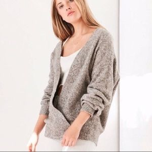 BDG urban outfitters grey faux wrap style sweater